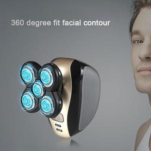 Kemei KM-1000 5 en 1 cabezales flotantes eléctricos de cinco cuchillas Razor afeitadora recargable herramientas de cuidado facial