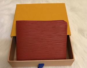 Los hombres nuevo diseñador de mano de alta calidad de la cartera de cuero de lujo corto carteras para mujeres del monedero de la moneda de los hombres bolsos de embrague con la caja
