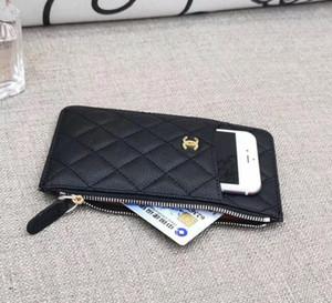 2020 Melhor estilo titular do cartão saco do telefone móvel Zipper bolso Carteira de luxo presente VIP do cartão de crédito Couro Paris desenhador Nome Zero Bolsa