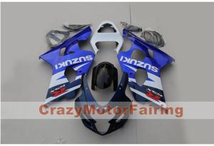 Alta calidad Nueva motocicleta ABS Fairings Fairings Fit For Suzuki GSXR600 750 600 750 K4 2004 2005 04 05 Carenado conjunto de kits personalizados azul