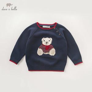 DB5905 dave bella autunno neonato bambino ragazzi navy bear maglione pullover bambini bei vestiti bambino bambini maglione lavorato a maglia SH190907