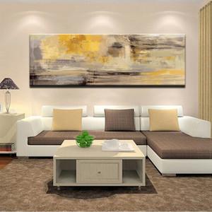 Плакаты и печать стены искусства холст картины, Современные абстрактные Золотой Желтый Афиши Wall Art Pictures Для Living Room Home Decor