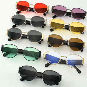High Quality Punk Metal Sunglasses Male European And American Tide Street Shooting Elliptical Sunglasses Eyeglasses Eyewears