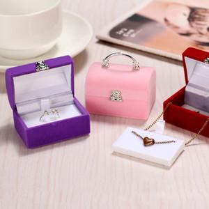 Borsa Jewelry Box Orecchini Anelli cassa del supporto romantico Wedding Ornaments nuziale display Accessori Organizer