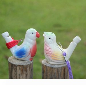 Bird Shape Whistle Children Ceramic Water Ocarina Arts And Crafts Kid Gift For Many Styles 1 1yx C 80pcs
