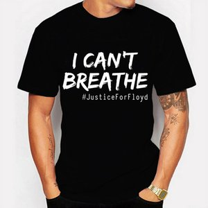 I Can't Breath Men's T-shrit Black Lives Matter T-Shirt - Rip George Floyd Shirt Round Neck Male Short Sleeve Tee