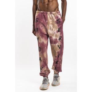 넥타이 염료 3D 20SS 편지 스웨트 팬츠 남성 조깅 탄성 허리 잃을 캐주얼 바지 힙합 남성의 땀 바지를 인쇄