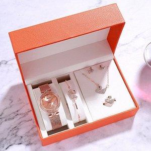 Rhinestone Whirlwind Design Metal Weave Clock Female Dress Girls Bracelet Bangle Quartz Watch Woman Wristwatch Set Siver Relojes#795