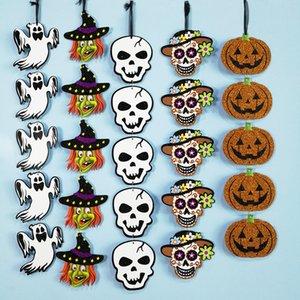 1 Pc Papier Pendentif Citrouille Squelette Fantôme Bandes Fenêtre Décorations Halloween Suspendu Arrangement Props Parti Maison Bricolage Fournitures