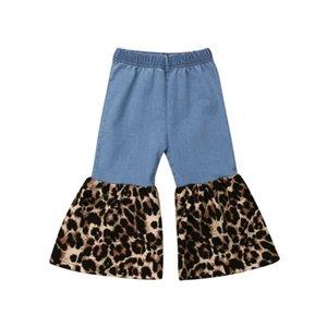 2020 Nueva Mujer bebé niños niñas pequeñas sueltas leopardo del dril de algodón pantalones casuales largo blue jeans pantalones pantalones