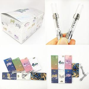 Runtz vapes cartouches vides 0.8ml 1,0ml Dank M6t Nouveaux 510 Vape Pen céramique Chariots Coil Emballage papier Vaporizer Hologram Box E-Cigarettes