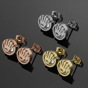 Designer accessories wholesale palm clip drill ear nails 18K rose gold lady's earrings