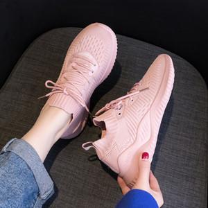 primavera mujer zapatillas de deporte 2019 nueva versión coreana del ocio transpirable zapatillas de deporte de la celebridad de Internet neta volar chica solo zapato