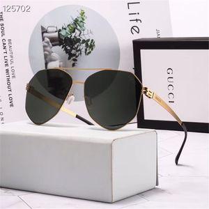 gafas de sol de los hombres de alta calidad de estilo aviador gafas de sol del metal de las mujeres 3 opciones de color para el verano de lujo gafas al por mayor calidad estupenda