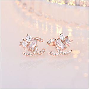 designer Korea Dongdaemun temperament earrings net red with the same paragraph S925 sterling silver jewelry sterling silver jewelry
