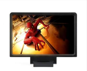 검은 색 또는 흰색 F1 3D 휴대 전화 화면 돋보기 앰프 접는 HD 비디오 돋보기 시계 영화 스마트 폰 브라켓 홀더