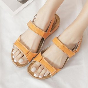 VIntage Breathable Women's Ladies Open Toe Solid Wedges Causal Shoes Outdoor Indoor Beach Sandals Sandalias de mujer L*5