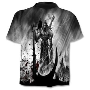 New Design T Shirt Men Women Heavy Metal Grim Reaper Skull 3D Printed T-shirts Casual Harajuku Style Streetwear Tops Men Tshirts Fashions