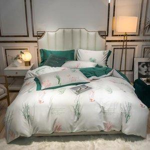 Bohemian Style Paisley Damask Medallion Print Egyptian Cotton Sateen Soft JPcs Queen King size Bedding Set Bed Sheet Pillowcase