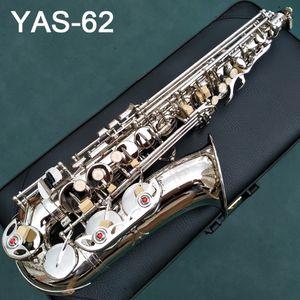 Japón saxofón alto YAS 62 62 Profesional Alto Sax Serie del saxofón de encargo de níquel con boquilla Caso cuello cañas