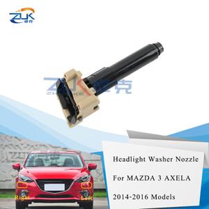 ZUK Farol Farol do pulverizador de água Bico Washer atuador Jet Para Mazda 3 M3 Axela 2014 2015 2016 Head Light Lâmpada Washer Nozzle