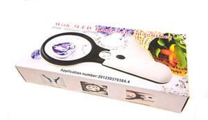 Горячая портативная лупа с подсветкой 3X 75mm 45X 22mm двойные лупы идентификация увеличительное стекло 3X 45X LED Light ювелирные изделия лупа