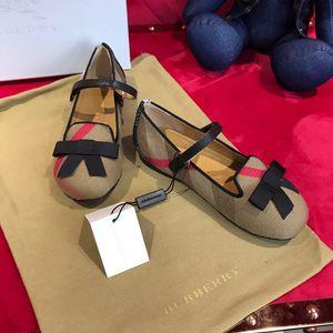 fashion 2019 kids girls shoes toddler girl shoe Plaid Flat Princess Shoes luxury designer Girls dance shoes classic kids designer shoe