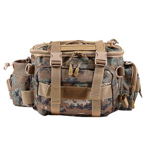 Fishing Bag Waterproof Outdoor Single Shoulder Fishing Waist Pack Bag Lure Reel Tackle Pesca Storage Bag,Brown