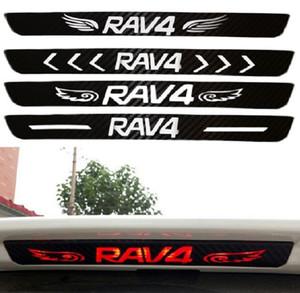 Car-styling 1Pc Car rear brake light dedicated sticker Accessories Dedicated Carbon fiber sticker For Toyota Rav4