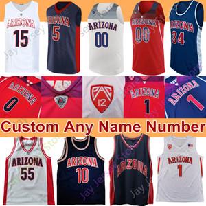 NCAA Arizona Wildcats Basketball Jersey Josh Verde 10 Mike Bibby Nico Mannion Zeke Nnaji Gilbert Arenas Jason Terry Lauri Markkanen