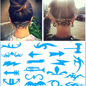 1 Set Fashion Hair Styling Tattoo Template Stencil Trimmer Salon Barber DIY Hairdressing Hair Template Mold