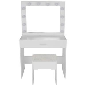 Vanity Set illuminato con specchio attenuato Sgabello Dressing Table da letto Vanity Makeup Table cassetto Vanity Table Set 2020 nuovo caldo