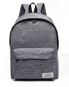 Solid Color Canvas Рюкзак Schoolbag Tide Малый Свежий колледж Стиль Рюкзак мужчин и женщин моды Дорожная сумка