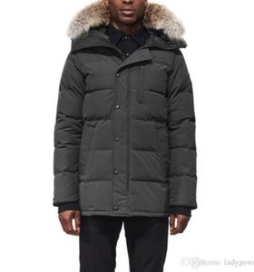 2019 Canada Men Winter Down Parkas Hoodie Black Navy Gray Jacket Winter Coat Parka Fur Sale With Free Shipping Outletd199#