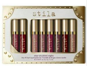 Stila Star шипованная 8шт. Жидкая губная помада. Набор блесков для губ.