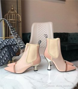 2019 new designer Ms short boots, Women Leather Boots, fashion heel high boots ,high for Fashion Lady with box & dust bag,size 34-41