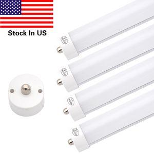 T8 8ft LED Tube Lâmpada, Pin Single FA8 Base, 6000K Branco frio, 8 pés Double Side (90W LED Lâmpadas fluorescentes)