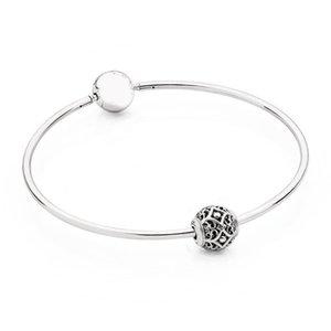 Petit trou Essence de Charms Affection 925 Bracelets argent pour les femmes Signature Fermoir adapter Lady Perle Pendentif Charm