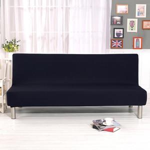 Kolçaksiz oda Katı Renk Herşey Katlama Stretch Çekyat Kapak Koruyucu slipcover yaşamak için kanepe örtüleri