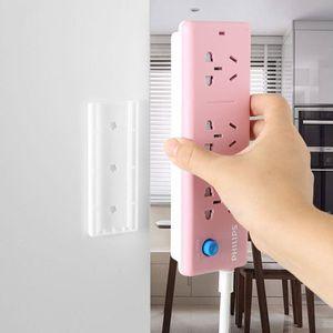 Plug-in fixador plug-in de fixação adesivos de parede sem vestígios Sem painéis de parede de perfuração adesivos de parede fivela soquete