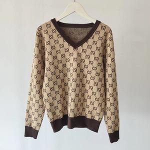 nouvelles femmes v-cou chandails pull-over F Lettre col montant Automne et hiver tricot qualité Blouses Pull Femme manufacturés