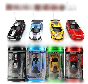 Nova cor 8 Remote Control Car Coca-Cola pode Mini RC Radio Remote Control Racing Micro 1:64 Car 8803 BY1243 Mini-Racer