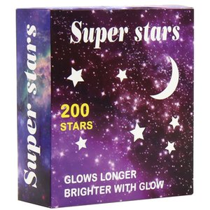 Wall Stickers of Super Fluorescent Stars Glow-in-the-dark with PVC fabric 15*15cm for Night Luminous Room Wall Decal