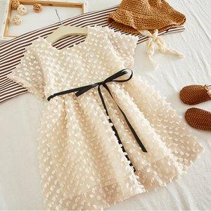2020 Summer Fashion Girls Princess Dress Elelgant Robe bébé fille dentelle enfants fille fête d'anniversaire de robe tout-petits cadeaux enfants Vêtements T200624