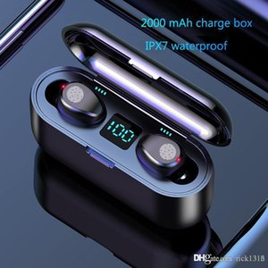 Vitog F9 TWS Wireless Earphone Bluetooth V5.0 Earbuds Bluetooth Headphone LED Display With 2000mAh Power Bank Headset With Microphone