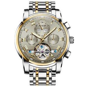 AESOP Watch Men Luxury Automatic Mechanical Men's Wristwatch Watch Waterproof Skeleton Male Clock Men Relogio Masculino