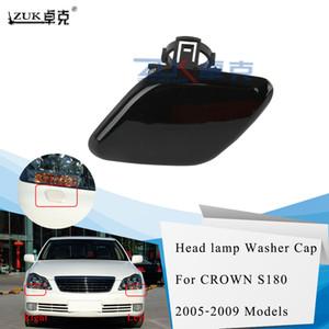 ZUK Headlight Headlamp Washer Nozzel Cover Cap For Toyota CROWN 2005 2006 2007 2008 2009 85382-0N010C-C0 85381-0N010-C0 Black