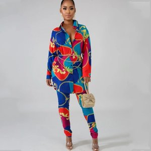 2 Piece Sets African Sets For Women New African Print Elastic Bazin Baggy Pants Rock Style Dashiki Sleeve Famous Suit For Lady