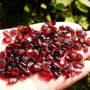 Naturale granato cristallo di quarzo della roccia della gemma ghiaia Reiki campione guarigione Cristalli di quarzo pietre naturali Gioielli materie prime