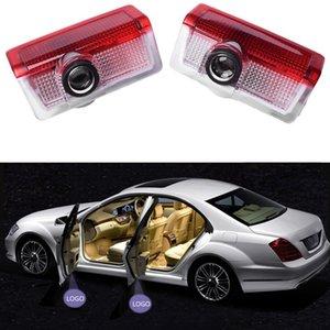 4pcs voiture LED Light porte pour Mercedes Benz W212 W205 W213 C204 W166 ML GL GLC GLE GLS Logo AMG Bienvenue Lampe